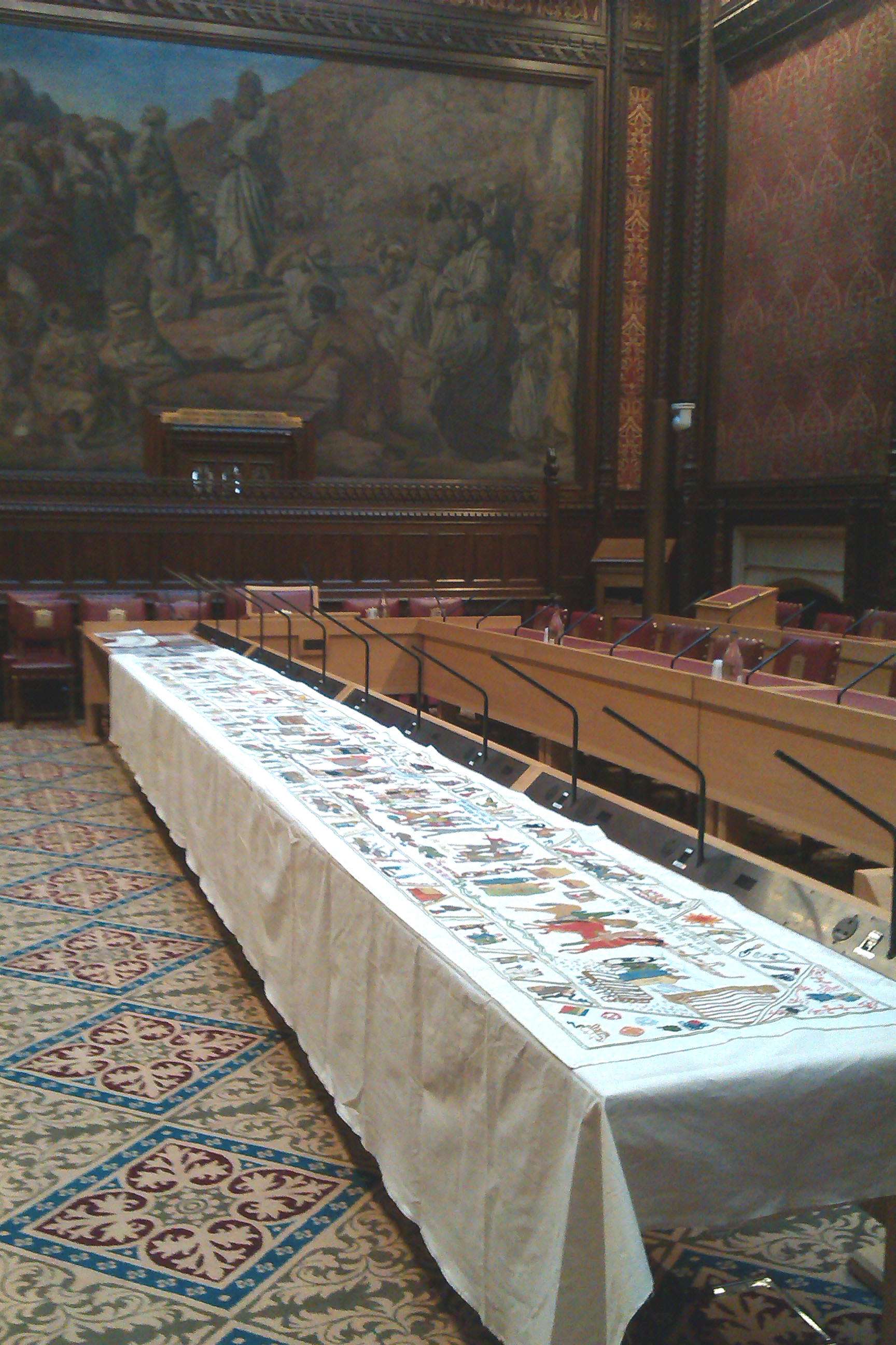 Fulford Tapestry display